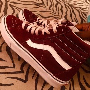 Burgundy Hightop Vans